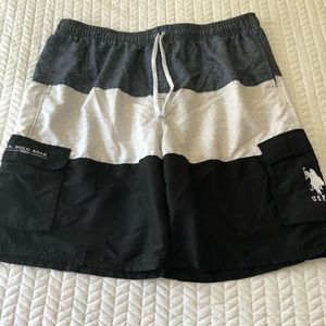 US POLO ASSN SWIM TRUNKS BOARD SHORTS BATHING SUIT